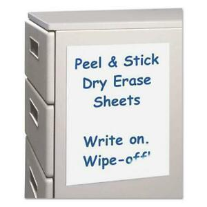 C line Peel And Stick Dry Erase Sheets 8 1 2 X 11 White 25 Sheets box