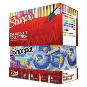 Sharpie Permanent Markers Ultimate Collection Fine Ultra Fine Assorted 72 se