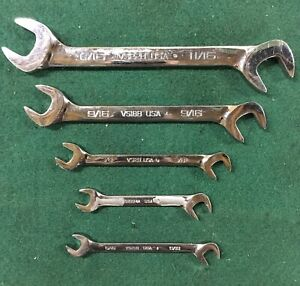 Snap On Tools Sae Four Way Angle Head Open End Wrench Set 5pc Usa 4 Way