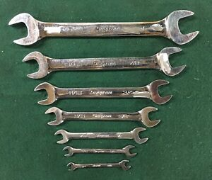 Snap on Tools Sae Standard Open End Wrench Set 1 4 1 7 Pc