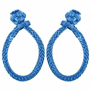 2pcs Soft Shackles Uhwmpe 12strand Synthetic Rope Inner Core 6mm Bow Width 100mm