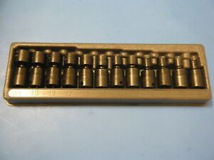 Snap On 12 Piece 3 8 6 Point Metric Shallow Impact Swivel Socket Set 212ipfm