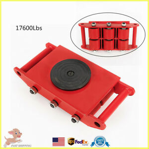 Durable 8t Heavy Duty Machine Dolly Skate Roller Machinery Mover 360 Rotation