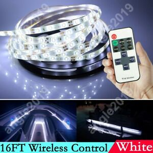 16ft White Wireless Control Waterproof Led Strip Light For Boat Truck Car Suv Rv