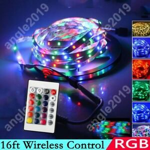 16ft Rgb Wireless Control Waterproof Led Strip Light For Boat Truck Car Suv Rv