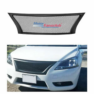 Front Bumper Sport Mesh Grill Grille For Nissan Sentra 13 14 15 2013 2014 2015