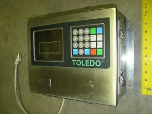 Toledo 8142 Digital Weight Scale Readout Stainless Display Monitor 120 Volt Ac