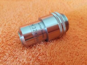 Ernst Leitz Wetzlar H32x 0 60 Quarzgl Microscope Objective For Heating Stage