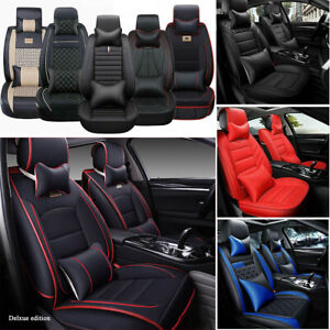 Universal Pu Leather 5 Seats Car Seat Cover Cushion 5 Color To Choose