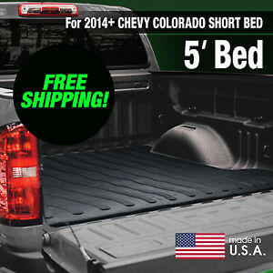 Heavy Duty 2014 Chevy Colorado Gmc Canyon Rubber Bed Mat Short Bed