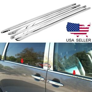 For 2011 2019 Toyota Sienna Stainless Steel Chrome Window Sill Trim 4pcs