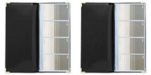 Rolodex Business Card Book 96 card Black And Gold 67473 2 Packs