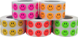 Smiley Face Stickers Happy Face Labels For Teachers Bulk Pack 1 2 Inch Round Per