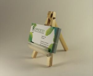 Business Card Holder For Desk wood Mini Easel Business Card Stand