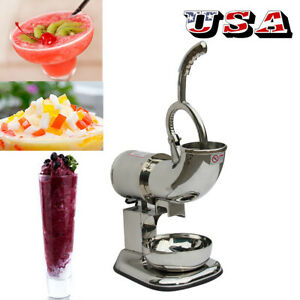 Stainless Ice Shaver Machine Snow Cone Maker Shaved Icee Electric Crusher 2019