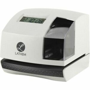 Lathem 100e Electronic Time Clock Biometric Employees Digital