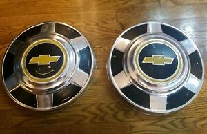 Vintage 1970 S 1980 S Chevy 1 2 Ton 2wd Pickup Truck Dog Dish Hubcaps Chevrolet