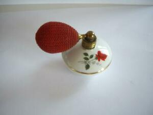 Rare Old Beautiful Porcelain Perfume Bottle With Atomizer
