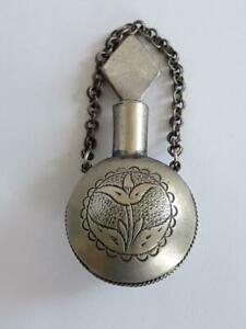 Beautiful Old Pendant Metal Perfume Bottle