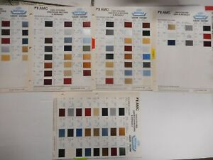 Group Of Dupont Amc And Renault Paint Color Chips As Shown 1982 1985
