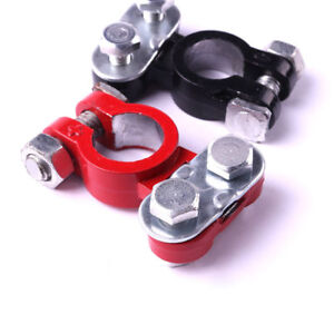 Top Post Battery Terminal Clamp Clips Positive Negative Connector End