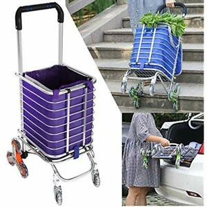 Folding Shopping Cart Portable Stair Climbing Utility With Swivel Wheel And 177