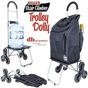 Stair Climber Bigger Trolley Dolly Black Grocery Shopping Foldable Cart Condo