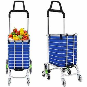 Folding Shopping Cart xff0c Portable Stair Climbing Grocery Carts Reusable With