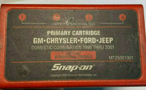 Snap On Primary Domestic Combination 1996 2001 For Mt2500 Scanner Mt25001001