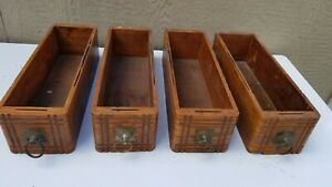 Lot Of Four Singer Treadle Sewing Machine Cabinet Drawers