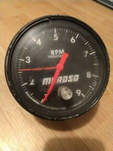 Vintage Moroso Jones Dl 429 Cable Mechanical 4 Tachometer W Tell Tale Needle