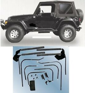 Rampage Complete Soft Top Hardware Kit 1976 1995 68035 For Jeep Wrangler Cj 7