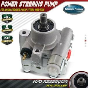 Power Steering Pump W o Pulley For Nissan Frontier Pickup Xterra 98 08 21 5217