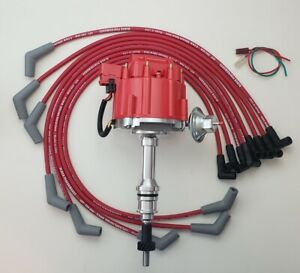 Ford Small Block 289 302 Hei Distributor Red 8 5mm Spiral Spark Plug Wires Usa
