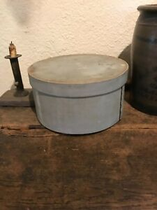Antique Early Pantry Box In Original Gray Paint