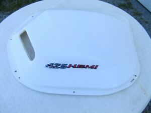 1970 1971 Cuda Challenger Shaker Bubble Dome Scoop Bonnet W 426 Hemi Emblems