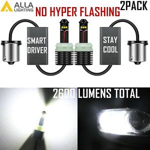 Brightest Led White 1156 Canbus Backup Light Reverse Lamp Turn Signal Light Bulb