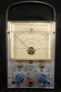 Vintage 1959 Rca Voltohmyst Vtvm Voltmeter Wv 77e For Service Industrly Works