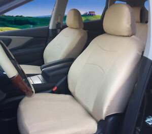 2 Front Car Seat Covers Tan Beige Leatherette Compatible To Lexus f15303