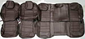 2013 2018 Dodge Ram Crew Cab Canyon Brown Leather Upholstery Seat Cover Set