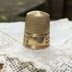 Vintage 14k Yellow Gold Simons Bros Thimble Size 11 No Monogram