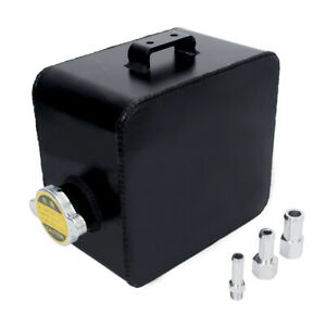 2 5 Coolant Water Expansion Tank Bottle Header Aluminium Universal Kit Car Black