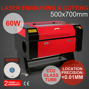 High Precise 60w Co2 Usb Laser Engraving Cutting Machine Engraver Wood Cutter