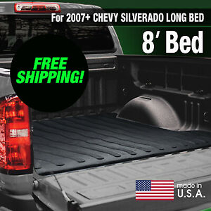 Heavy Duty 2007 Chevy Silverado gmc Sierra Rubber Bed Mat Long Bed