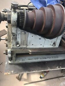 W f j Barnes Lathe No 5 1 2 13x36 With A 8 Wide Bed