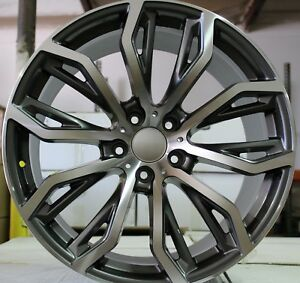 22 Inch Rims Fit Bmw X6m X5m X5 X5 X4 Rims M Sport Machined Staggered Wheels
