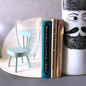 1970s Kartell Giotto Stoppino White Plastic Mcm Modern Book Ends Mid Mod