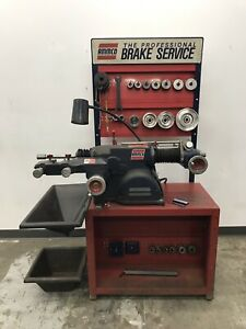 Ammco 4000b Disc And Drum Brake Lathe W Stand Adaptek Adapters