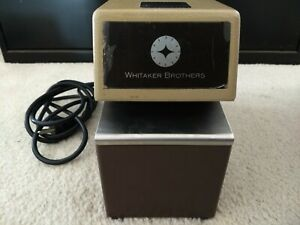 Whitaker Brothers Heavy Duty Document Stamp Time Clock W Key Made Usa Et