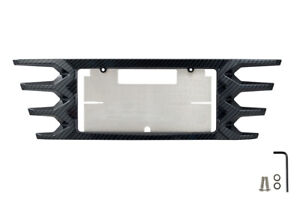 2014 2019 C7 Corvette Rear License Plate Frame Black Hydro Carbon Fiber Finish